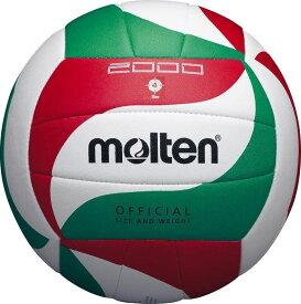 ● molten (モルテン) ミシン縫いバレーボール 4号球 バレーボール 4号ボール 4号球 白×赤×緑 V4M2000
