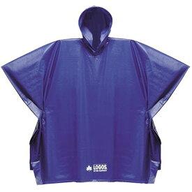 LOGOS トレッキングウェア ジュニア PVCポンチョ ブルー 85001015□