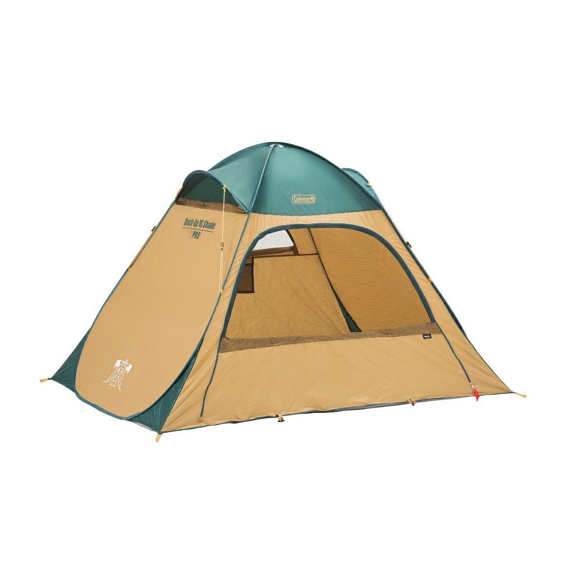 ● COLEMAN (コールマン) キャンプ用品 サンシェード クィツクアップIG゛シェード(グリーン/ベージュ) 2000033131