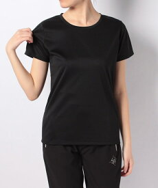 SPORTS AUTHORITY (スポーツオーソリティ) レディーススポーツウェア Tシャツ ベーシック半袖Tシャツ レディース ブラック 5C-Y18-306-002