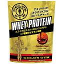 GOLD'S GYM (ゴールドジム) ホエイプロテイン+ホエイペプチド&ビタミン チョコレート風味 1500g サプリメント ホエイ…