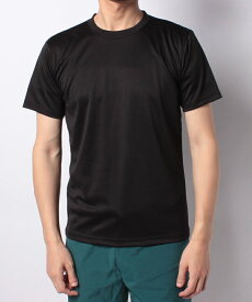 ● SPORTS AUTHORITY (スポーツオーソリティ) ベーシック半袖Tシャツ メンズスポーツウェア 半袖ベーシックTシャツ メンズ ブラック 5C-Y18-305-001 BLK
