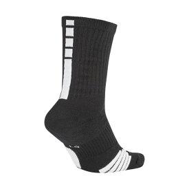NIKE (ナイキ) バスケットボール メンズソックス ナイキ エリート クルー ソックス 23-25 ブラック/ホワイト/(ホワイト) SX7622-013