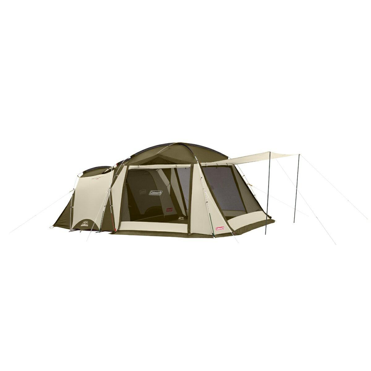 ● 【送料無料】 COLEMAN (コールマン) キャンプ用品 ファミリーテント タフスクリーン2ルームハウス (オリーブ/サンド) 2000033800