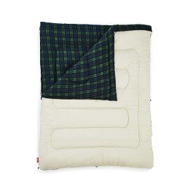 ● 【送料無料】 COLEMAN (コールマン) キャンプ用品 スリーピングバッグ 寝袋 封筒型 フリースアドベンチャー/C0(グリーンチェック) 2000033804