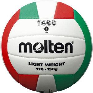 molten (モルテン) EVAバレーボール 4号球 バレーボール 4号軽量 4号球 ホワイト×レッド×グリーン V4C1400-L
