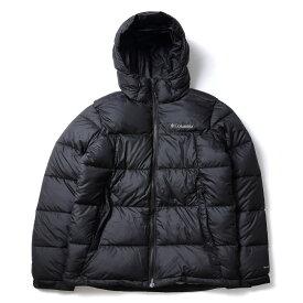 ● 【送料無料】 Columbia (コロンビア) トレッキング アウトドア 厚手ジャケット パイクレークフーデッドジャケット メンズ BLACK WE0020-010