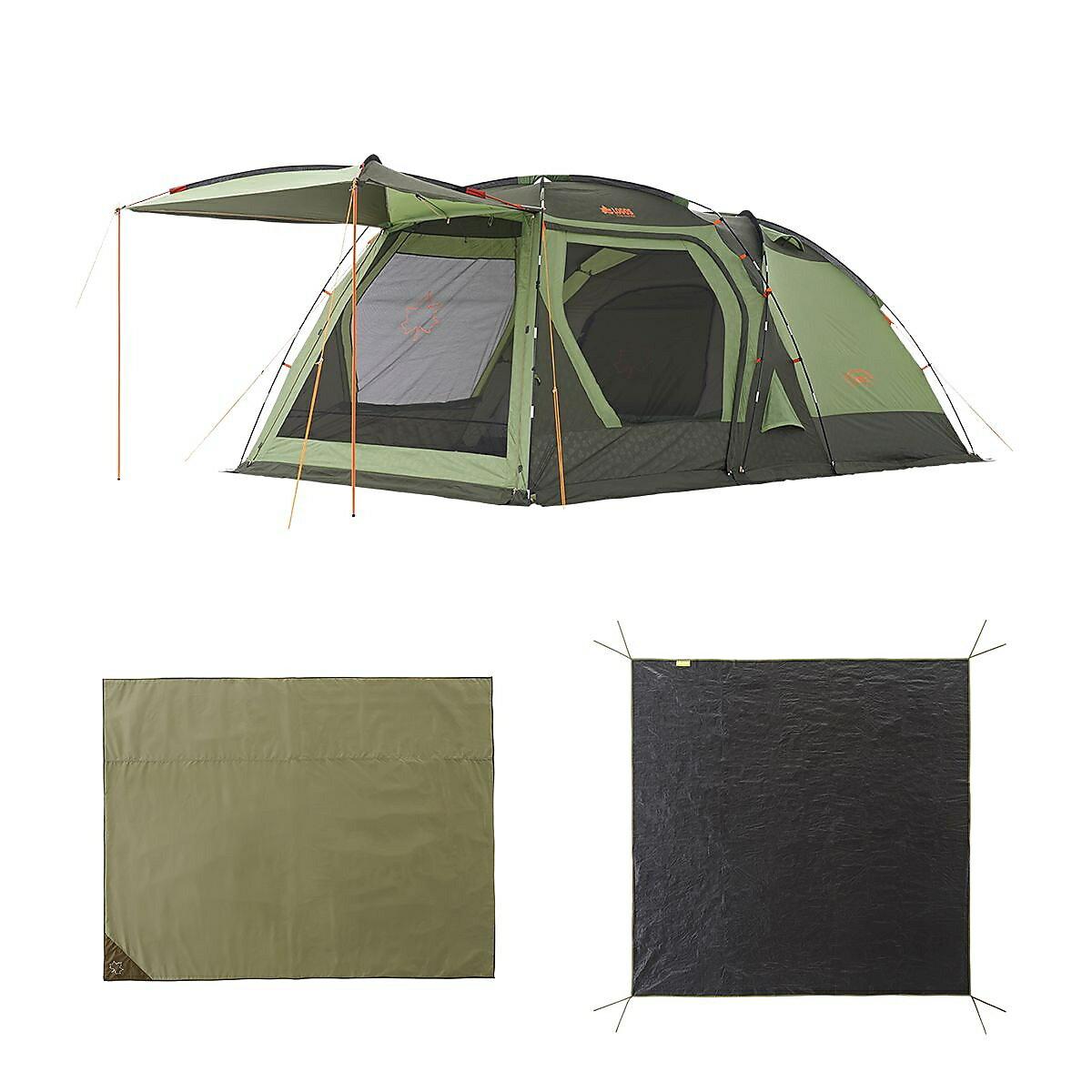 ● 【送料無料】 LOGOS (ロゴス) キャンプ用品 ファミリーテント PSC DOUBLE XL SET 71809540