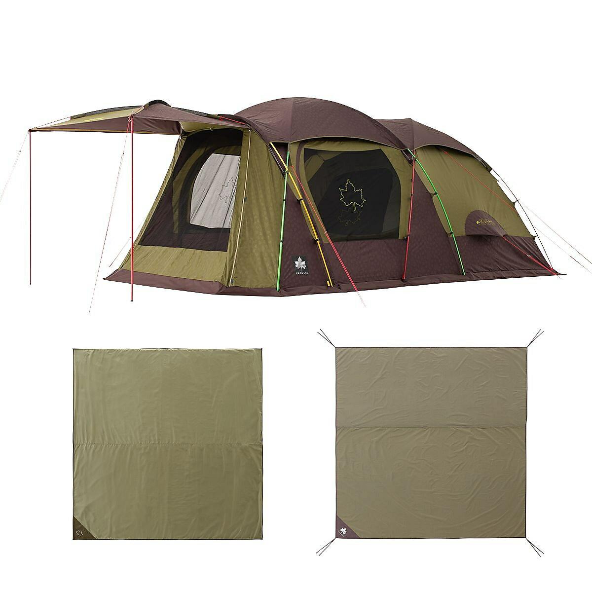 ● 【送料無料】 LOGOS (ロゴス) キャンプ用品 ファミリーテント PREMIUM DOUBLE XL SET 71809548