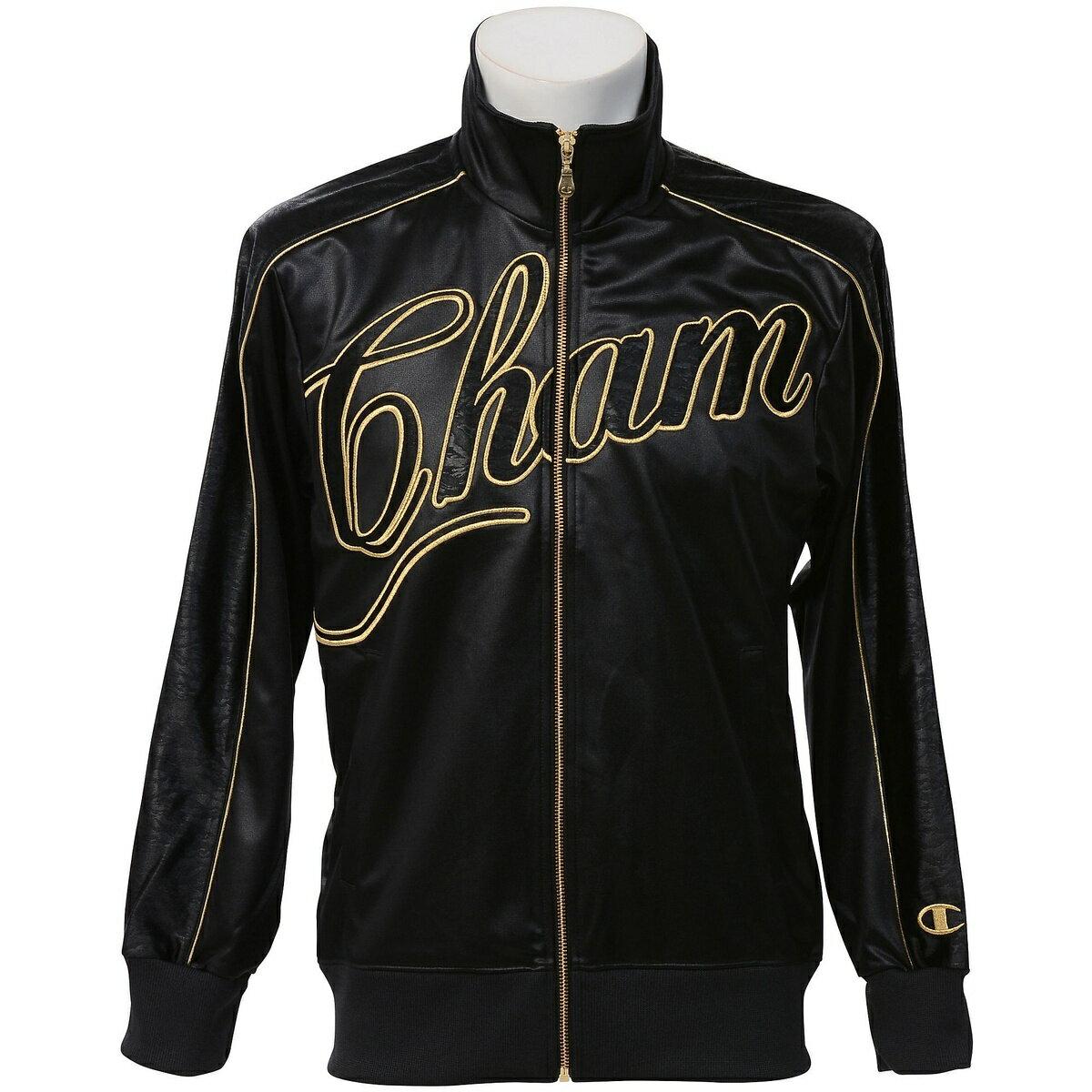 ● Champion (チャンピオン) メンズスポーツウェア ウォームアップジャケット ジップジャージージャケット ブラック Z CW1317-K