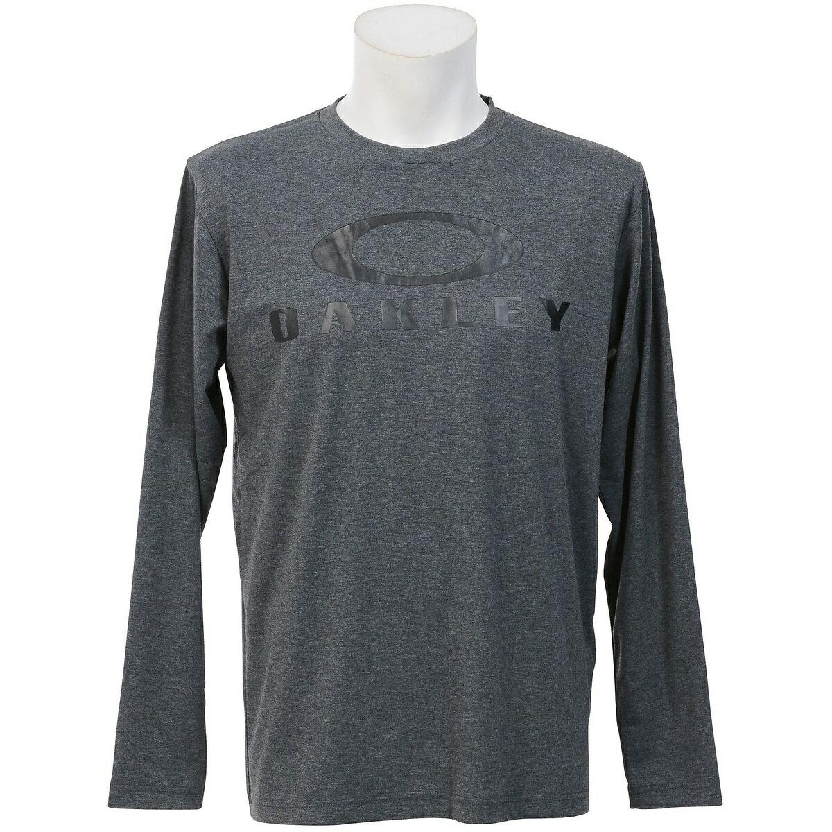● OAKLEY(オークリー) メンズスポーツウェア 長袖機能Tシャツ ENHANCE TECHNICAL QD LS TEE.17F.07 メンズ DARK HEATHER GREY 456911JP-20Q