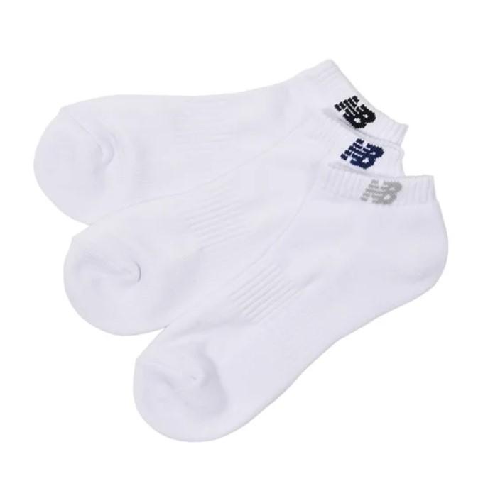 New Balance (ニューバランス) スポーツアクセサリー ソックス ショートレングス3Pソックス ホワイト JASL7792WT