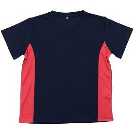 SPORTS AUTHORITY (スポーツオーソリティ) ジュニアスポーツウェア Tシャツ ジュニア ベーシックTシャツ ジュニア ネイビー/PNK 5C-Y19-012-008