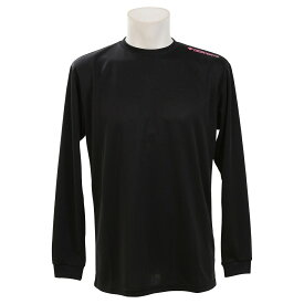 ● DESCENTE (デサント) バレーボール 長袖プラクティスシャツ SMU 長袖ワンポイントシャツ BMZ DOR-B9446MG