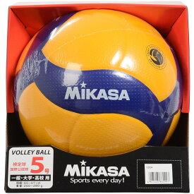 ● 【送料無料】 MIKASA (ミカサ) バレーボール 5号ボール バレー5号 国際公認球 高校試合球 黄/青 5 V300W