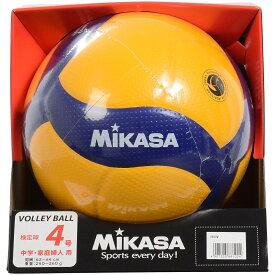 ● MIKASA (ミカサ) バレーボール 4号ボール バレー4号 検定球 黄/青 4 V400W
