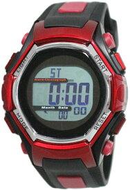 スポーツアクセサリー 時計 クレファー デンパソーラーウォッチ レッド FDM7861-RD