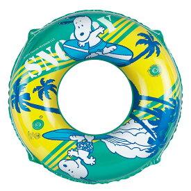 ● サマー レジャー 大人用浮き輪 スヌーピー うきわ 100 ジュニア ブルー S-035400