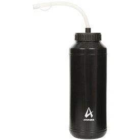 ATHFORM(アスフォーム) フィットネス 健康 ボトル カバー スクイズボトル1000ML ストロー付き 1000ML ブラック AF-Y19-006-002