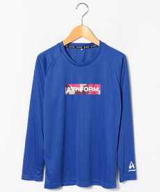 ● ATHFORM(アスフォーム) ジュニアスポーツウェア Tシャツ ジュニア長袖グラフィックTシャツ ボーイズ ブルー AF-F19-012-009