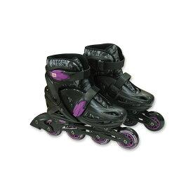 ● SPORTS AUTHORITY (スポーツオーソリティ) ジュニアインラインスケートセット ホイール エクストリーム ジュニアインラインスケート ジュニア ブラックXパープル EX-Y19-017-102