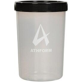 ATHFORM(アスフォーム) フィットネス 健康 ボトル カバー プロテインシェイカーボトル400ML 400ML ブラック AF-Y19-006-003