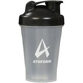 ATHFORM(アスフォーム) フィットネス 健康 ボトル カバー プロテインシェイカー400ML 400ML ブラック AF-Y19-006-004