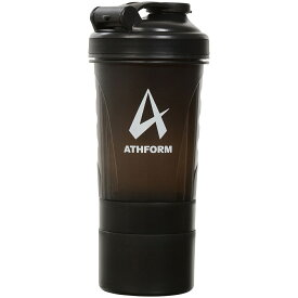 ATHFORM(アスフォーム) フィットネス 健康 ボトル カバー プロテインシェイカー500ML 500ML ブラック AF-Y19-006-005