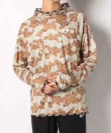 ATHFORM(アスフォーム) ランニング メンズ長袖Tシャツ RUNスムスフーディ長袖Tシャツ メンズ ベージュ AF-S20-008-023