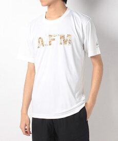 ATHFORM(アスフォーム) ランニング メンズ半袖Tシャツ RUNクルーネック半袖Tシャツ メンズ ベージュ AF-F19-008-019