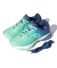 ● LOTTO (ロット) レディーステニスシューズ MIRAGE 300 II SPD W レディース GREEN CABBAGE/ALL WHITE/SODALITE BLUE 213636