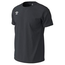 ● UMBRO (アンブロ) メンズスポーツウェア 半袖機能Tシャツ WRワンポイントドライ Tシャツ BLK UMUPJA61 BLK