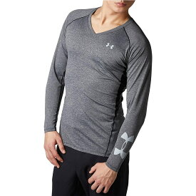 ● UNDER ARMOUR (アンダーアーマー) ゴルフ アクセサリー 20F UA HG FITTED LONG SLEEVE V-NECK HEATHER メンズ BLK/MGA 1353523 001
