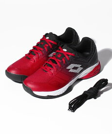 ● LOTTO (ロット) メンズテニスシューズ MIRAGE 300 II OMNI RED POPPY/ALL WHITE/ALL BLACK 214809