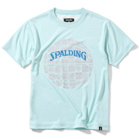 ● SPALDING (スポルディング) ジュニアTシャツ - スポルディング 市松 バスケットボール ジュニア 半袖Tシャツ GRN SJT200660
