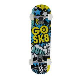 GOSK8 28インチスケートボード ホイール エクストリーム スケートボード 28 イエロー/ブルー GOSK8 Z