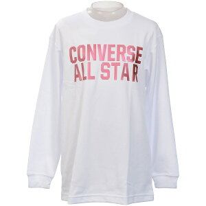 ● CONVERSE (コンバース) JRプリントロングスリーブシャツ バスケットボール ジュニア 長袖Tシャツ ジュニア ホワイト CB402356L-1100