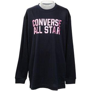 ● CONVERSE (コンバース) JRプリントロングスリーブシャツ バスケットボール ジュニア 長袖Tシャツ ジュニア ネイビー CB402356L-2900