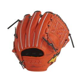 MIZUNO (ミズノ) 硬式用 ミズノプロ 5DNAテクノロジー【内野手用(センターポケット深め):サイズ9】 野球 硬式グローブ メンズ スプレンディッドオレンジ 1AJGH24243 52