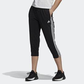 adidas (アディダス) エッセンシャルズ シングル ジャージー 7分丈パンツ / Essentials Single Jersey 3/4 Pants レディーススポーツウェア ボトムス レディース ブラック/ホワイト 29173 GM5539