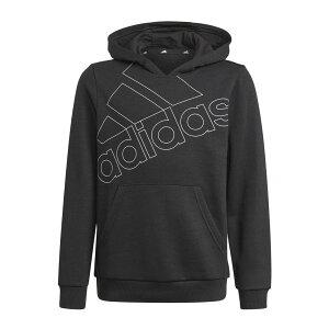● adidas (アディダス) アディダス エッセンシャルズ ロゴパーカー / adidas Essentials Logo Hoodie ジュニアスポーツウェア スウェット ボーイズ ブラック/ホワイト 29340 GN3975