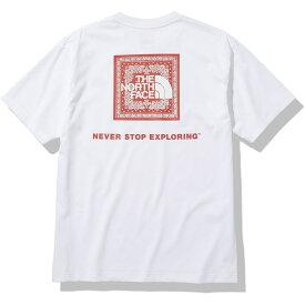 THE NORTH FACE (ノースフェイス) S/S Bandana Square Logo Tee (ショートスリーブバンダナスクエアロゴティー) トレッキング アウトドア 半袖Tシャツ メンズ W NT32108 W