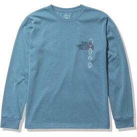 THE NORTH FACE (ノースフェイス) L/S Digital logo Tee (ロングスリーブデジタルロゴティー) トレッキング アウトドア 長袖Tシャツ レディース SM NTW82137 SM