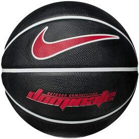 ナイキ ゴムバスケットボール7号 ドミネート 8P ブラック/ユニバーシティレッド あす楽対応