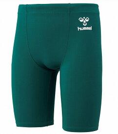 ヒュンメル ジュニアサイズ フィットインナースパッツ HJP6036 Dグリーン(取り寄せ商品) コンプレッション ショートタイツ ダークグリーン 深緑 濃緑