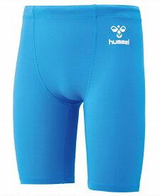 ヒュンメル ジュニアサイズ フィットインナースパッツ HJP6036 ライトブルー(取り寄せ商品) コンプレッション ショートタイツ 水色 サックスブルー