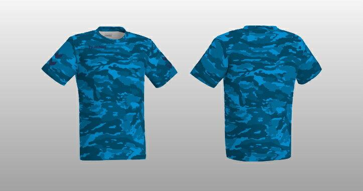ヒュンメル 昇華プリントTシャツ HAZ102 ブルー
