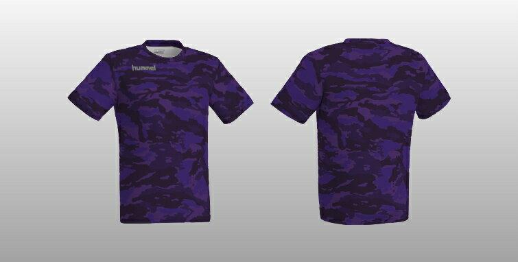 ヒュンメル 昇華プリントTシャツ HAZ102 バイオレット