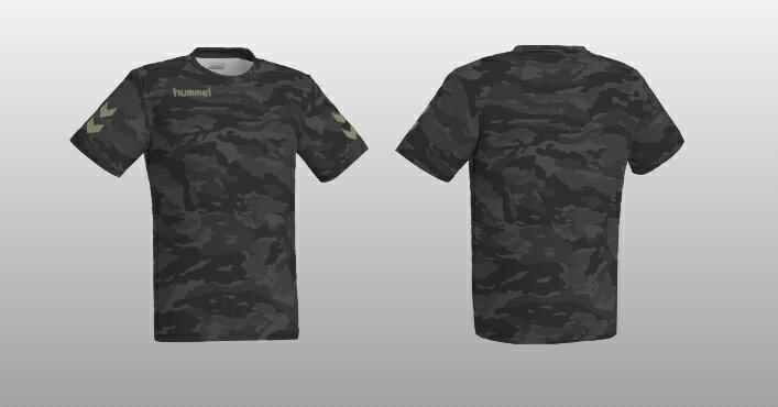 ヒュンメル 昇華プリントTシャツ HAZ102 ブラック
