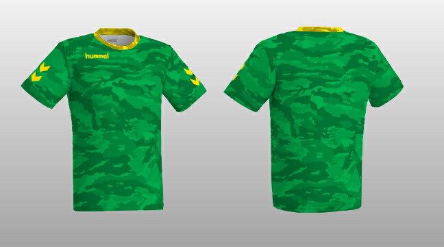 ヒュンメル 昇華プリントTシャツ HAZ102 グリーン